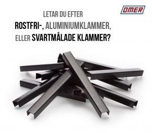 klammer rostfri aluminium svartmålad klammer omer hjotrade