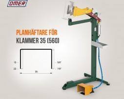 Planhäftare PB.35 SA Klammer 35 från OMER eller 560 Kihlberg