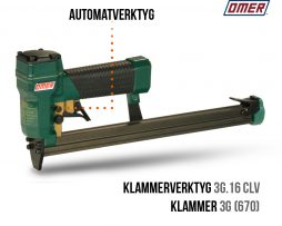 Klammerverktyg 3G.16 CLV automatverktyg långt magasin