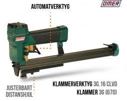 Klammerverktyg 3G.16 CLVD Automatverktyg långt magasin