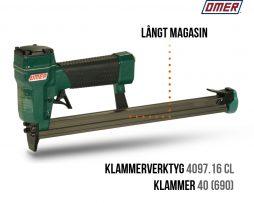 Klammerverktyg 4097.16 cl långt magasin
