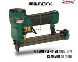Klammerverktyg 4097.16 v Automatverktyg för klammer 40 och 690
