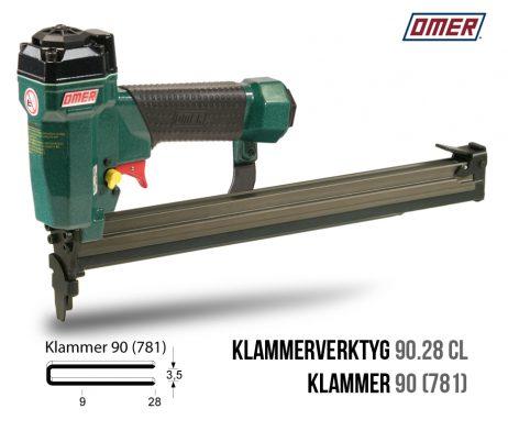 Klammerverktyg 90.28 cl för klammer 90 långt magasin