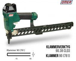 Klammerverktyg 90.38 cld3 klammer 90 eller 781