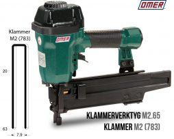 klammerverktyg m2.65 klammer m2 eller jk783