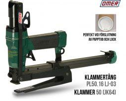 Klammertång pl50.16 lj -03 papptuber för klammer 50