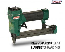 Klammerverktyg T50.16 klammer T50 eller rapid 140